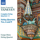 Sergei Taneyev: Complete String Quartets, Vol. 4: String Quartet No. 6 - String Quartet No. 9